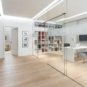Schuifdeur glas kantoor