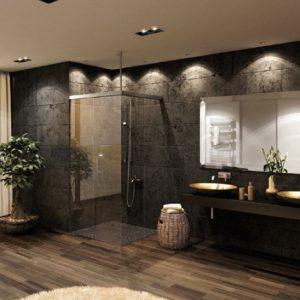 Glasmogelijkheden badkamer