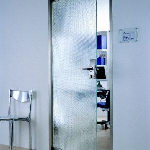 Hardglazen deur figuurglas