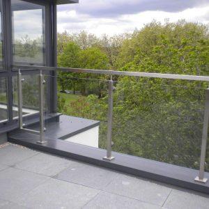 Dakterras railing glas Q-railing