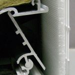 Areofil in ventilatierooster voor bescherming tegen fijnstof