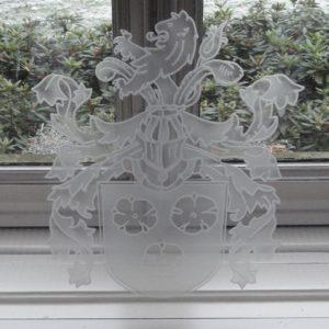 Gezandstraald glas Landgoed Lauswolt