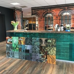 Balink bar geprint glas