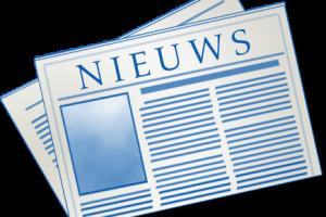 Nieuws krant blauw