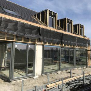 Nieuwbouw woning in Warga voorzien van duurzaam glas